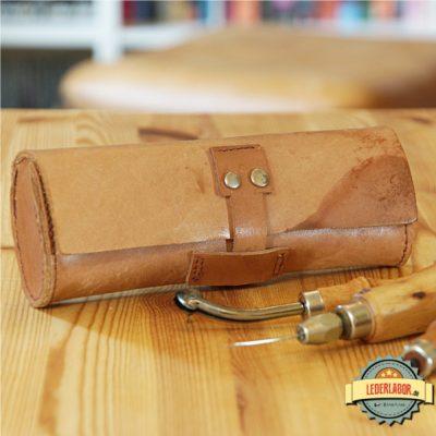 Leder-Werkzeugtasche.