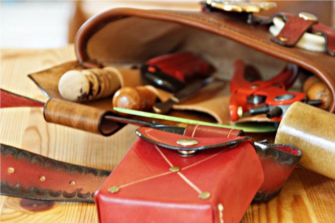 Blick ins Innere der Werkzeugtasche. Viel Stauraum und kleine Taschen. (C.B.)