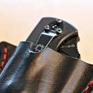 Handgefertigte Lederhülle für Spyderco Klappmesser (custom made Knife Sheath)