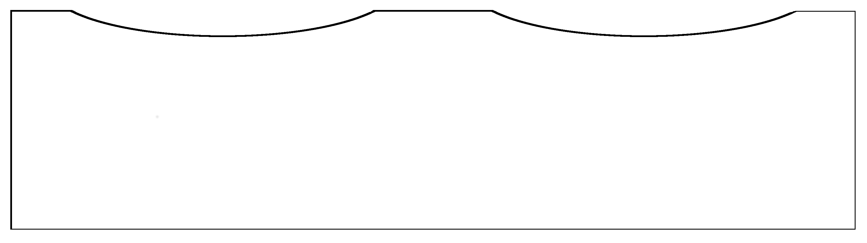 Modifizierte Krone mit zwei Aussparungen für die typische Zylinderform.