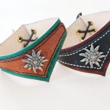 Handgefertigter Choker aus Leder (Steampunk)
