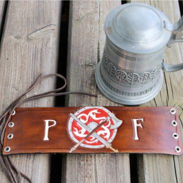 Flaschenband aus Leder – Premer Feuer