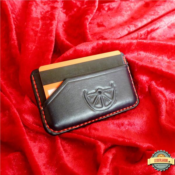 Minimalist Wallet mit Boron Motiv.