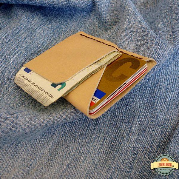 Ansicht von oben auf die Minimalist Wallet.