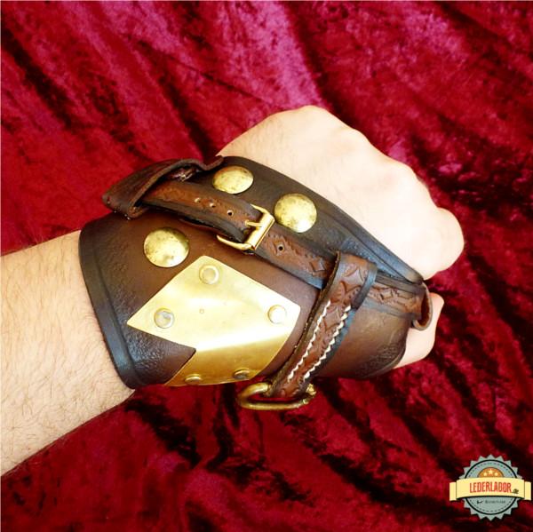 Steampunk Handschutz von oben.