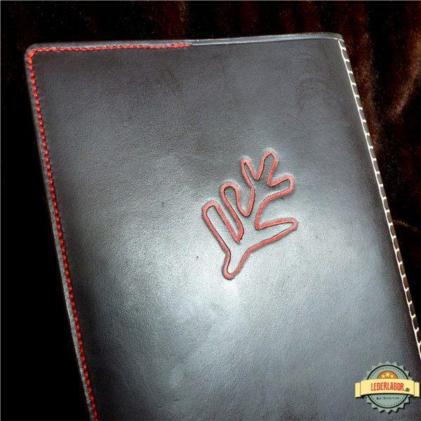 Elder Sign auf der Rückseite des Ledercovers für die Deutsche Lovecraft Gesellschaft.