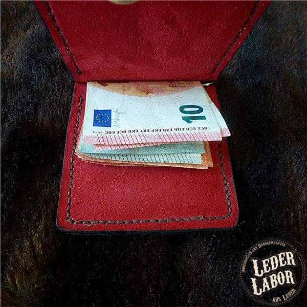 Money-Clip Lederbörse mit Ziegen Nappa Lining.