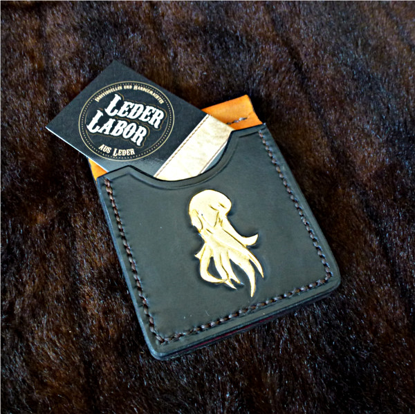 Money-Clip Lederbörse mit Visitenkarte vom Lederlabor.