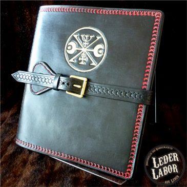 Okkulter Ledereinband für DIN A4 Ordner